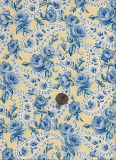 NEW! Cotton Quilting Sewing Fabric Timeless Multi Blue Floral on Light Yellow #TimelessTreasuresFabric