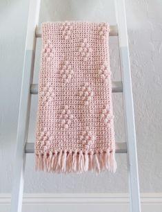 Crochet Diamond Berry Stitch Blanket | Daisy Farm Crafts