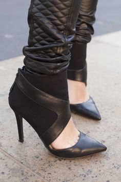 all black and all leather #fall #trend