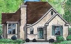 Comfortable Cottage Home Plan - 19237GT | 1st Floor Master Suite, Cottage, French Country, Narrow Lot, PDF | Architectural Designs