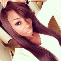 Check out this beauty's hair!! We heart her hair and the color!! #weave #crush #color