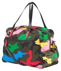 cd4d359c3a91 Valentino Camo Travel Bag Valentino Camo, Designer Resale, Camo Bag,  Studded Bag,