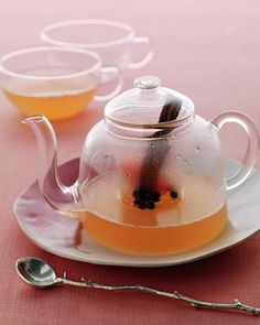 warm grapefruit tea