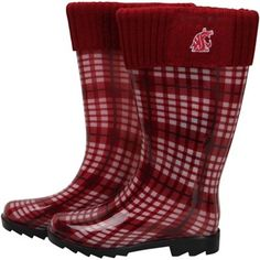 Washington State Cougars Women's Rain Boots - Crimson