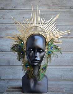 This item is unavailable Feather Crown, Feather Headdress, Preppy Hairstyles, Pow Wow Party, Gothic Crown, Mermaid Ornament, Queen Crown, Wild Ones, How To Look Pretty