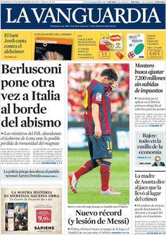 Los Titulares y Portadas de Noticias Destacadas Españolas del 29 de Septiembre de 2013 del Diario La Vanguardia ¿Que le pareció esta Portada de este Diario Español?