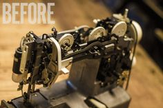 Making a DIY Scroll Saw from a Vintage Sewing Machine Homemade Tools, Diy Tools, Crafts To Do, Diy Craft Projects, Project Ideas, Electrical Projects, Vintage Sewing Machines, Repurposed Items, Vintage Tools