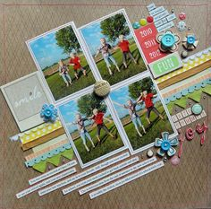 #papercraft #scrapbook #layout. Late Summer Joy