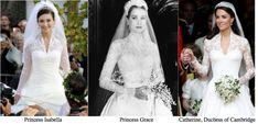 Isn't this amazing... look at the similarities between Princess Grace... Princess Isabella and Kate