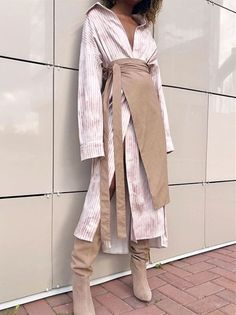 2019 Striped Shirt Dress With Plain Skirt Suit – Zillalike