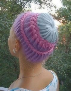 Braided crown. My mind is blown by braids like these along with the color