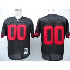 ca9e9b3173cb4 San Francisco 49ers 00 Customized Black Throwback Jersey
