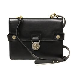2c9ba9c53a21 The Versace Collection Handbag Vitello Perlato 796438 Black Leather Cross  Body Bag is a top 10 member favorite on Tradesy.