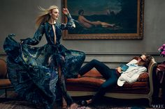 What girl wouldn't like a Dundas (with model Caroline Trentini, in Emilio Pucci) on her chaise longue? In a dull, double-dip world, he's the man who has fought on the side of good-time dressing, turning Emilio Pucci into a hotbed of sophisticated sexiness. Trained in Parisian haute couture and sprung from Norway via America, he's a cosmopolitan gentleman with a studio in the Florentine Palazzo Pucci and a very healthy twenty-first-century work ethic. Endless numbers of the supergorgeous are…