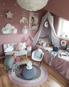 Awesome 38 Popular Kids Bedroom Decoration Ideas That Looks Awesome Girls Room Design, Baby Room Design, Baby Room Decor, Bedroom Decor, Toddler Rooms, Toddler Bed, Little Girl Rooms, My New Room, Girls Bedroom