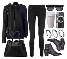 """""""Style #9759"""" by vany-alvarado ❤ liked on Polyvore featuring BLK DNM, Yves Saint Laurent, Topshop, AllSaints, Prada, CÉLINE, Casetify, DesignSix, women's clothing and women's fashion"""