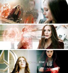 Wanda Maximoff // Check out my Civil War and Marvel boards!                                                                                                                          Pinterest: @meghnaprasad4