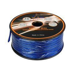 Aurum Cables 16 Gauge Outdoor Speaker Wire - Direct Burial w/ sequential ft markings every 5 ft) - 50 feet by Aurum Cables. $34.99. 50 foot, 16-Gauge Outdoor / direct burial speaker Wire - transparent PVC. Connects speakers to your A/V receiver or amplifier.  WATERPROOF CL2 APPROVED