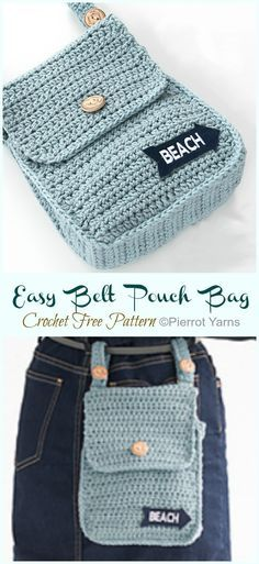 Easy Belt Pouch Bag Crochet Free Pattern - Crochet & Knitting