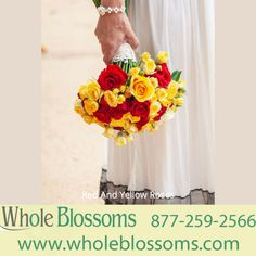 Red And Yellow Roses, Flowers Wholesale, Wedding Flowers, Bridal Flowers