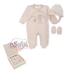 3- częściowy komplet dla noworodka z bawełny organicznej  www.sofija.com.pl  #babyshower #babygift #kinder #babygeschenk #kids #baby #dziecko #prezent #niemowlak #wyprawka #sofija #ubranka #подарокребенку #ребенок