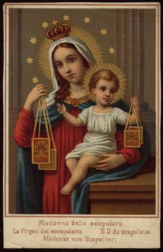 Holy card of Our Lady of Mt. Carmel