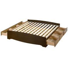 Brown King 6-drawer Platform Storage Bed | Overstock.com Shopping - The Best Deals on Beds
