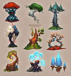 """""""Amazing trees-3 by Sedeptra"""" Not something to actually make, but something to inspire."""
