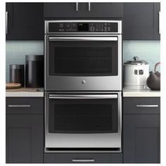 """GE Profile 30"""" Stainless Steel Built-In Double Convection Wall Oven; one of Consumer's Report top 5 - GE PT9550SFSS"""