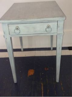 Beach Cottage Blue End Table