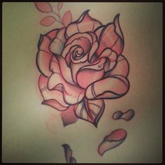 neo-traditional-rose-tattoo-flash-4