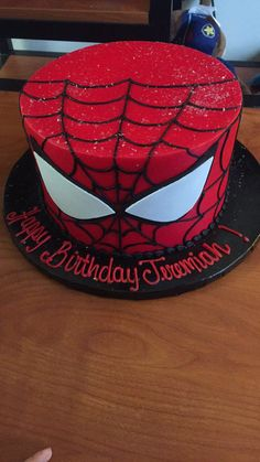 If you are planning a spiderman party here is a collection of spiderman cake ideas to help. All can be made at home and will look and taste great. Birthday Cakes For Men, Spiderman Birthday Cake, Novelty Birthday Cakes, Superhero Birthday Party, Cakes For Boys, Men Birthday, Cake Birthday, Spider Man Birthday, Birthday Sayings