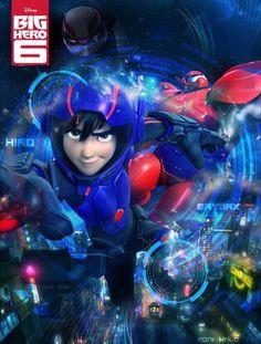 BH6 poster - fanart Disney Animated Movies, Disney Movies, Disney Pixar, Big Hero 6, Hero Movie, Movie Tv, Super Hiro, Hiro Hamada, Fan Poster
