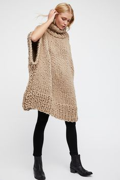 Shop our Keep Me Cozy Handknit Cowl Poncho at Free People.com. Share style pics with FP Me, and read & post reviews. Free shipping worldwide - see site for details.
