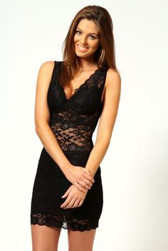 Lace Strappy Fitted Bodycon Dress - http://missdress.org/lace-strappy-fitted-bodycon-dress/