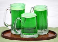How to make beer green and not flat