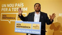 Esquerra Republicana (ERC) Independent Party's presidential candidate Oriol Junqueras for Catalunya's regional government speaks to supporters in central Barcelona, November 25, 2012. Four separatist parties in Spain's Catalonia looked set to win a majority in regional elections on Sunday, partial results showed, but the main one was on course to lose some seats, possibly undermining its bid to call an independence referendum. REUTERS-Gustau Nacarino