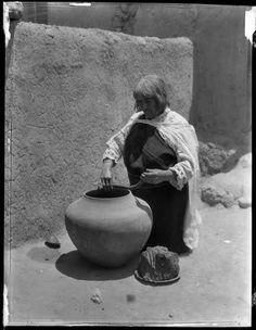 """Tsiyone (""""Flying"""") Zia Pueblo, New Mexico, by Edward S. Palace of the Governors Photo Archives"""
