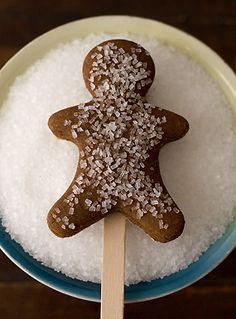 gingerbread men on a stick