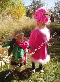 Flamingo & palm tree costume #kids #halloween #couple
