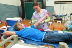 First-time donor Austin Ferguson. — at West Carrollton High School. #blooddonor #hero