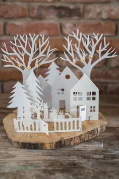 DIY Winter Wonderland Made From Paper