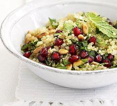 Quinoa, herb & pomegranate salad