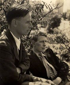 Christopher Isherwood and W.H. Auden by Louise Dahl-Wolfe, 1938