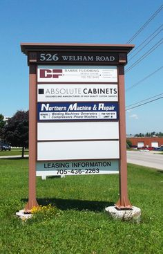 Informative outdoor business signage completed by Speedpro Signs Barrie Ontario!