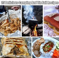 25 Delicious Camping And Tin Foil Recipes  Relevant to my interests. I can put a good spin on these babies. Camping Survival, Camping And Hiking, Camping Foods, Camping Ideas, Camping Recipes, Camping Hacks, Grill Recipes, Camping Cooking, Camping Site