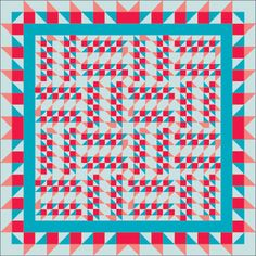 Making Moose Tracks: Denise Starck offers alternate color ideas! Love the red and aqua together.