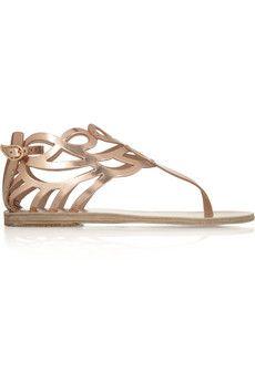 56d9b499d7e67 Ancient Greek Sandals - Medea cutout mirrored-leather sandals