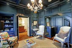 And now the room is painted the trendy Farrow & Ball cobalt blue! Again – the paint gives the room a huge youthful vibe.image