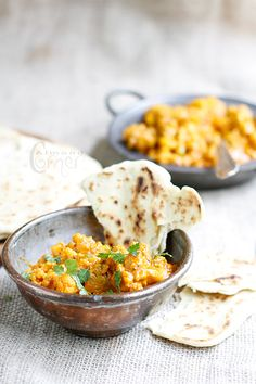 Cauliflower Curry with Roti